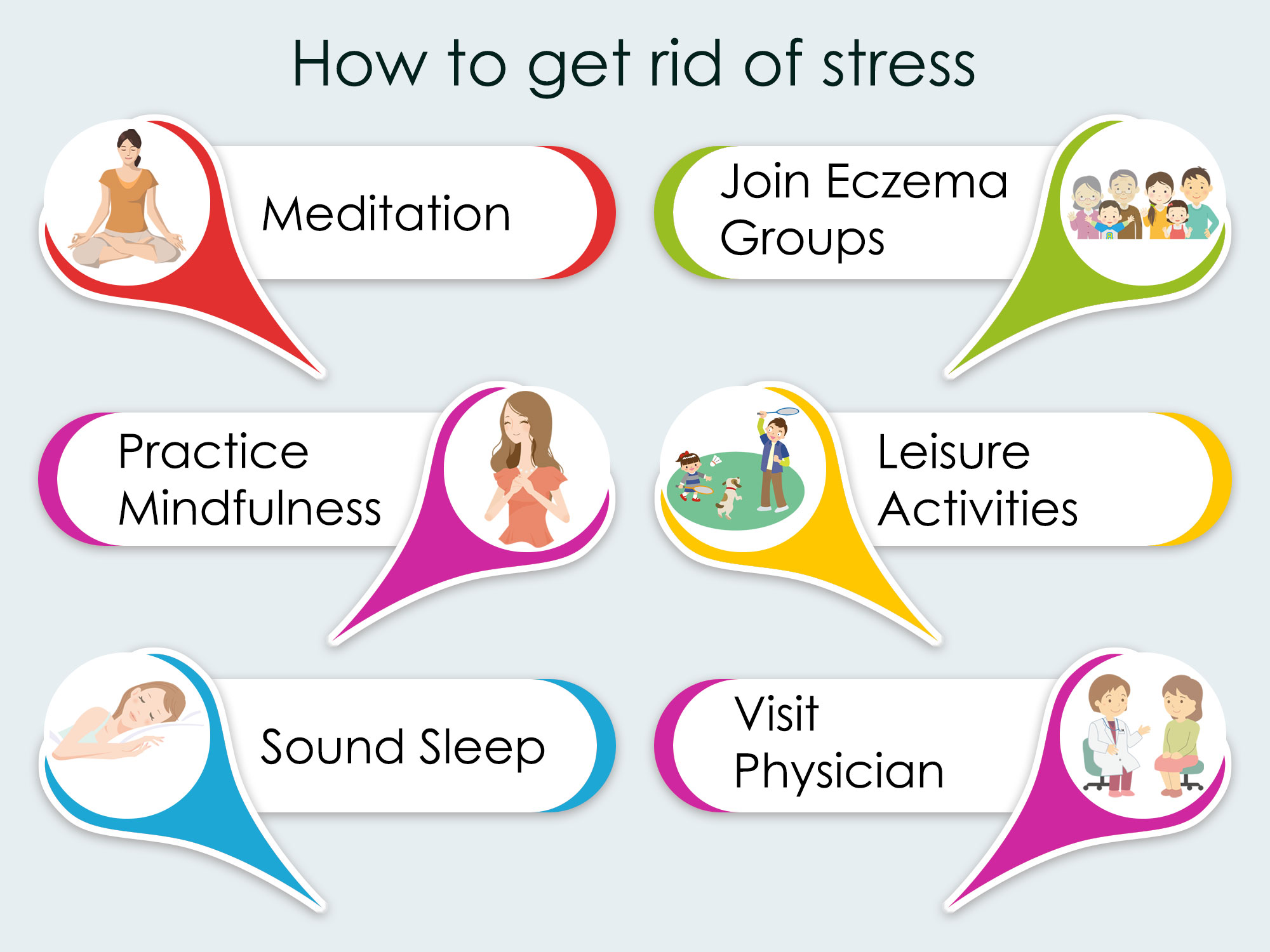 How to get rid of Stress in Eczema